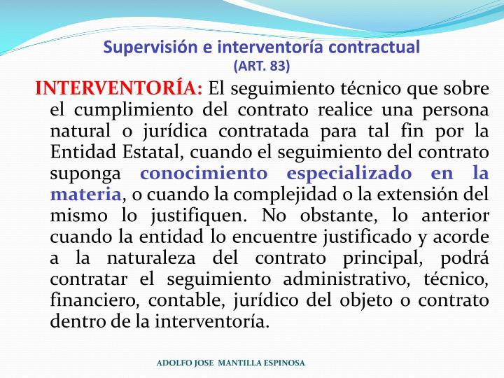 Supervisión e