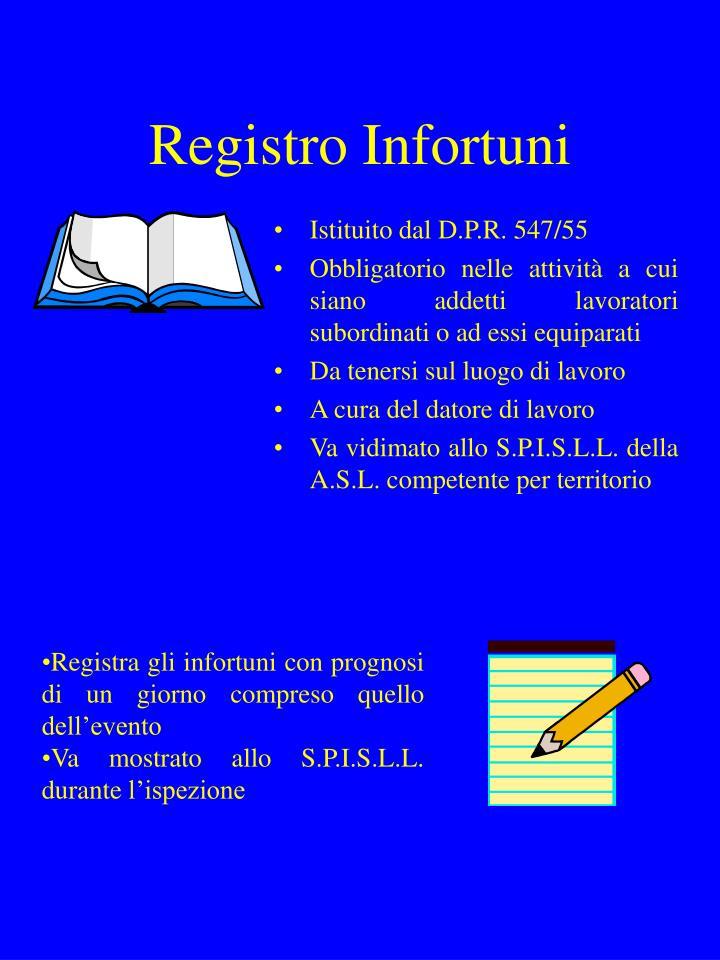 Registro Infortuni
