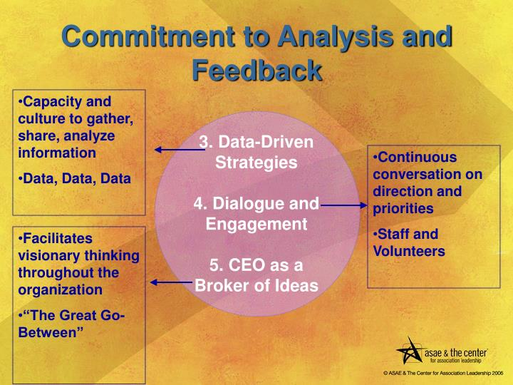 Commitment to Analysis and Feedback