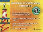 examples of outstanding companies