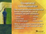 exceptional communication