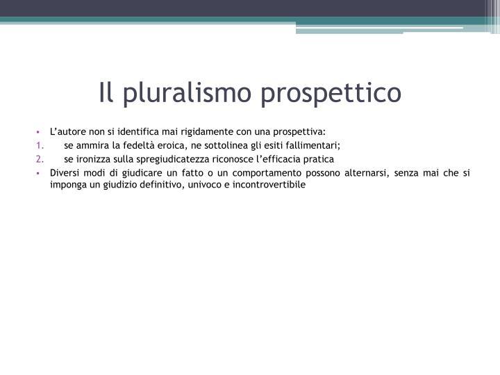 Il pluralismo prospettico