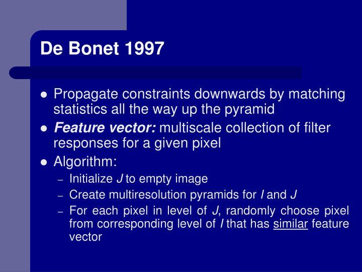 De Bonet 1997