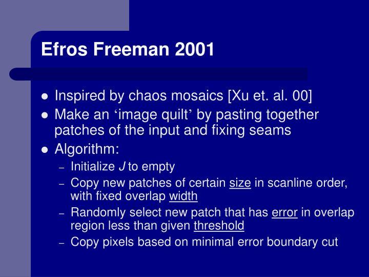 Efros Freeman 2001