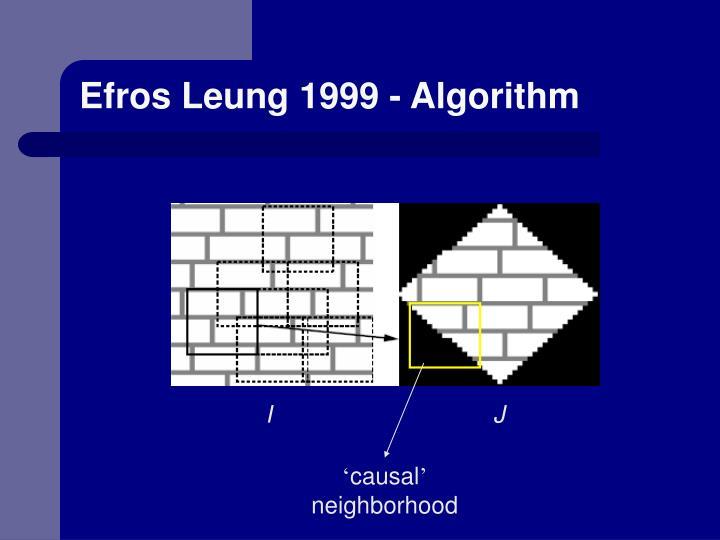 Efros Leung 1999 - Algorithm