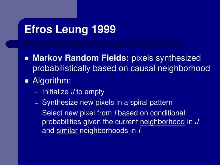 Efros Leung 1999