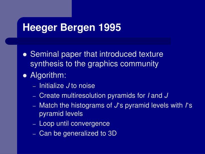 Heeger Bergen 1995