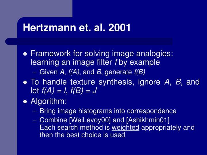 Hertzmann et. al. 2001