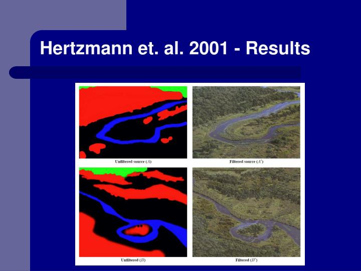 Hertzmann et. al. 2001 - Results