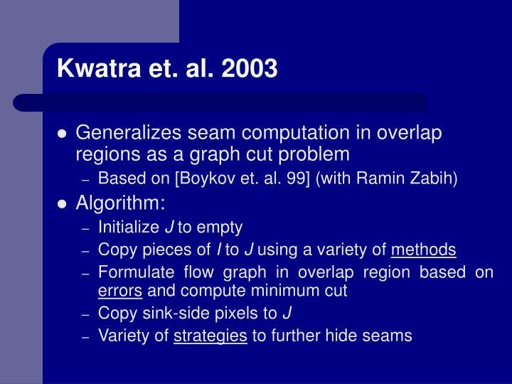 Kwatra et. al. 2003