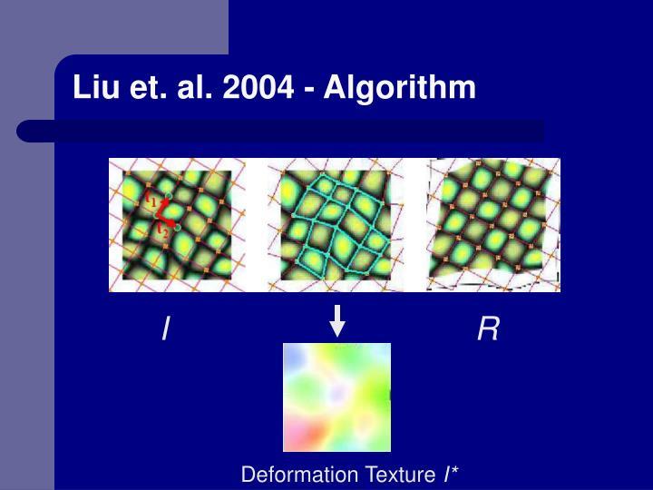 Liu et. al. 2004 - Algorithm