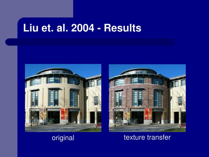 Liu et. al. 2004 - Results