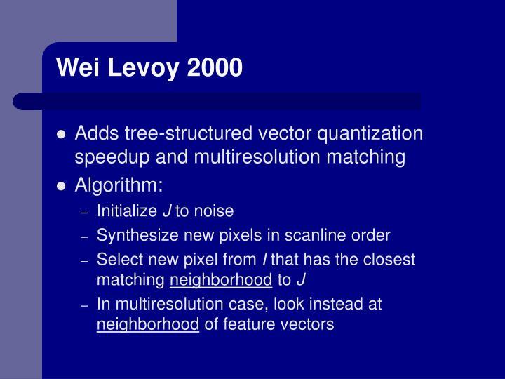 Wei Levoy 2000