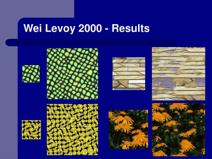 Wei Levoy 2000 - Results