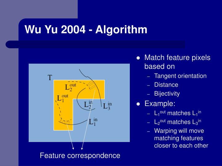 Wu Yu 2004 - Algorithm