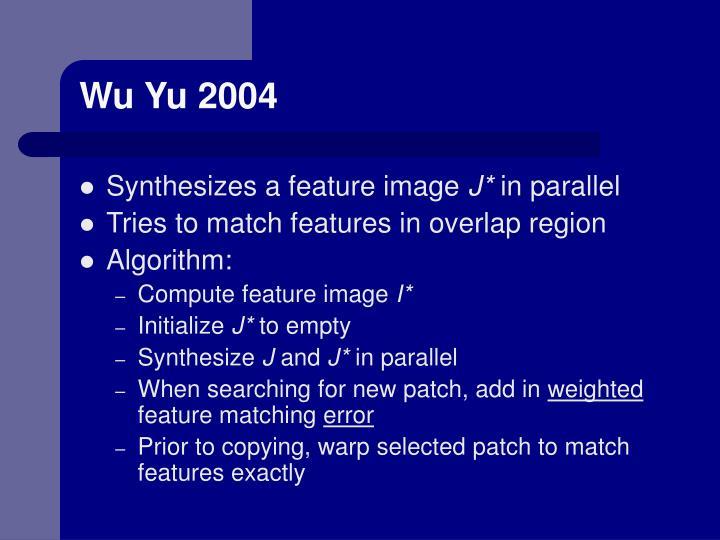 Wu Yu 2004