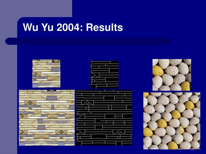 Wu Yu 2004: Results