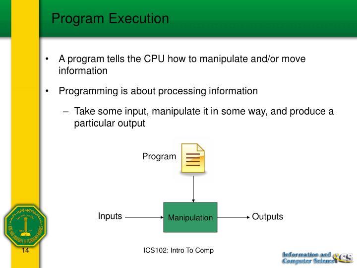 Program Execution