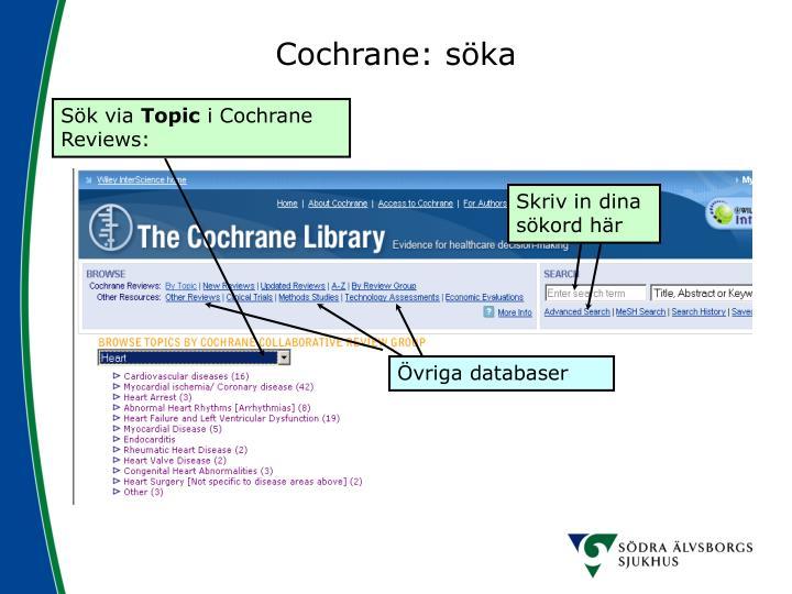 Cochrane: söka