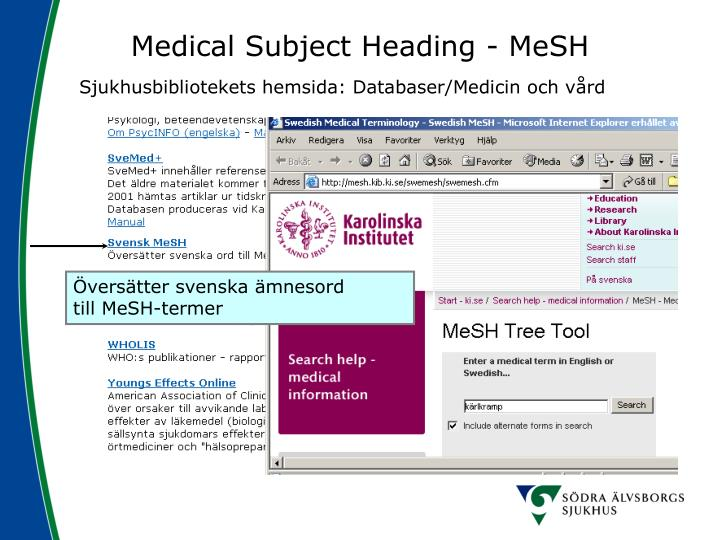 Medical Subject Heading - MeSH