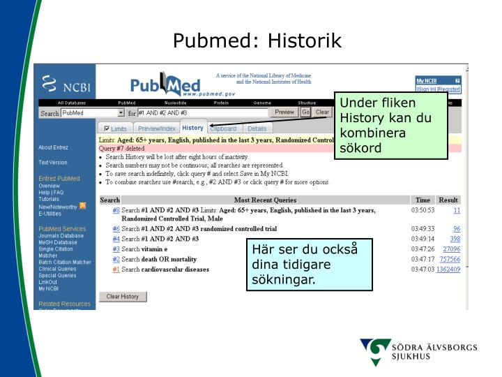 Pubmed: Historik