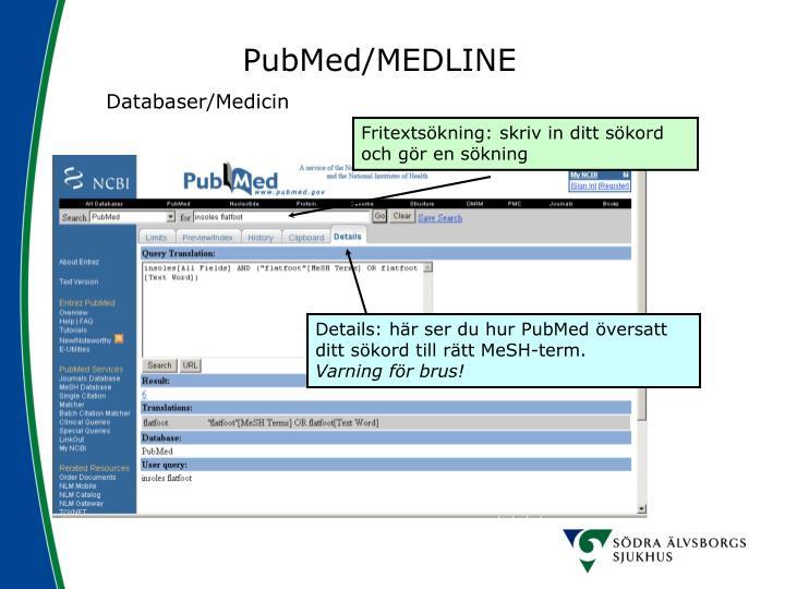 PubMed/MEDLINE