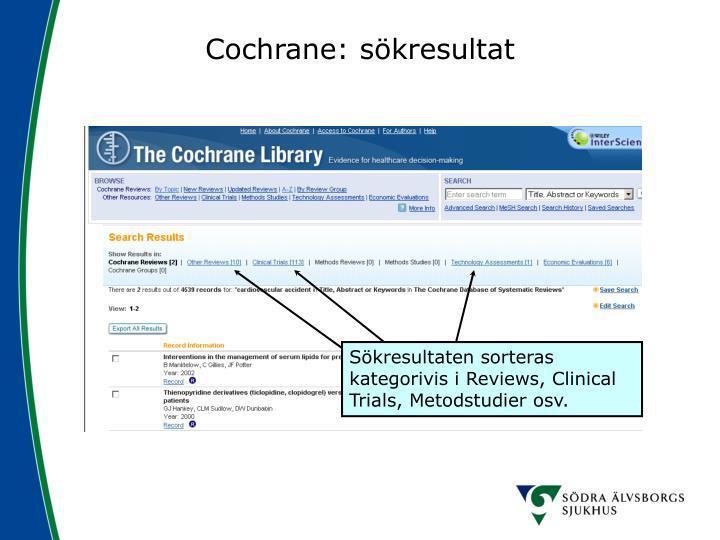 Cochrane: sökresultat