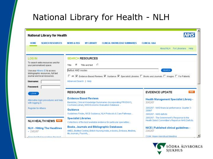 National Library for Health - NLH