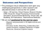 outcomes and perspectives