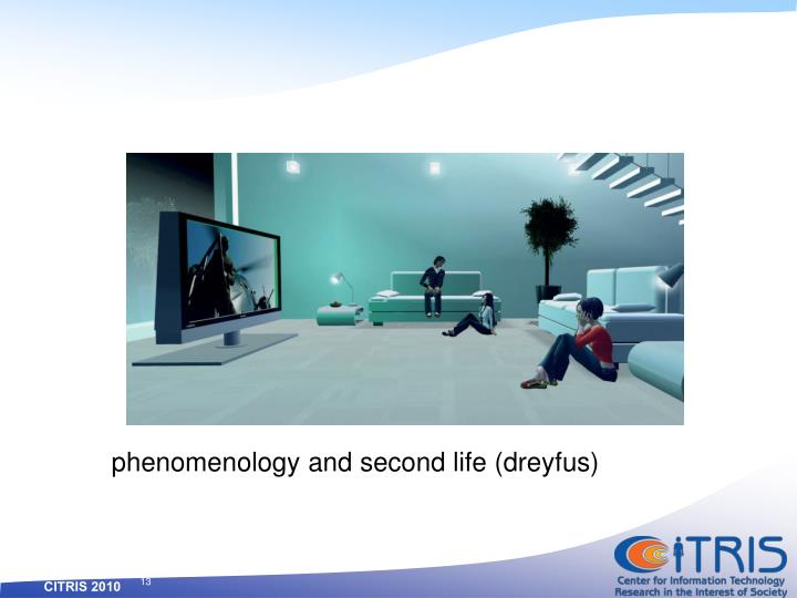 phenomenology and second life (dreyfus)