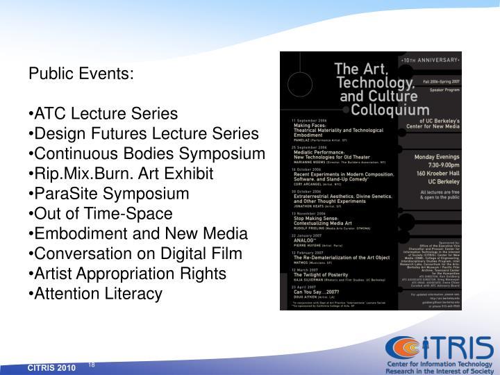 Public Events: