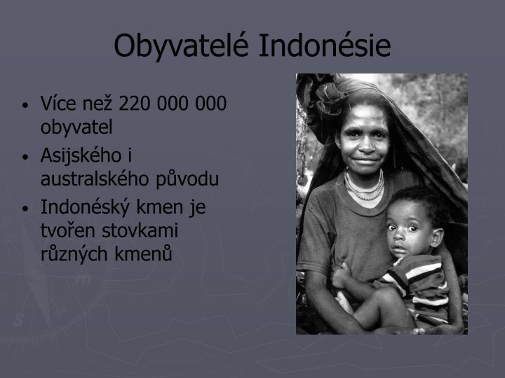 Obyvatelé Indonésie