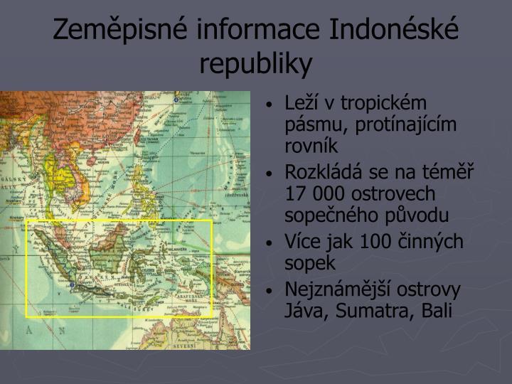 Zeměpisné informace Indonéské republiky