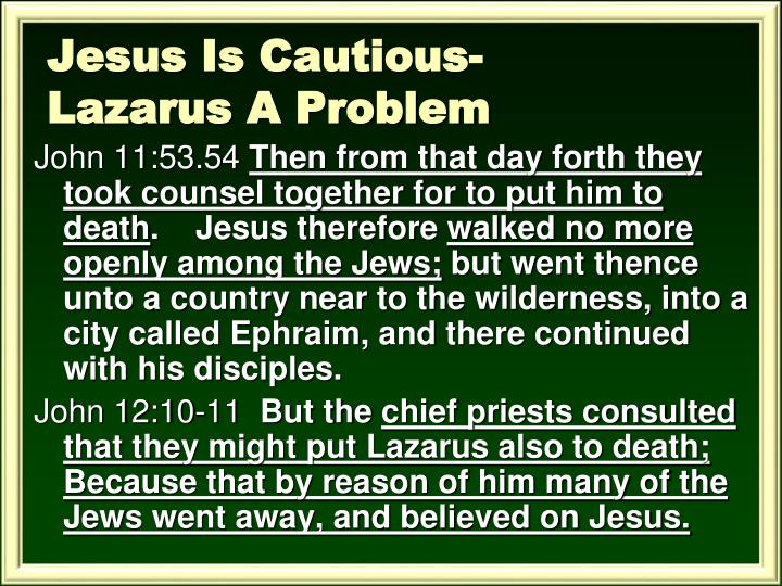 Jesus Is Cautious-