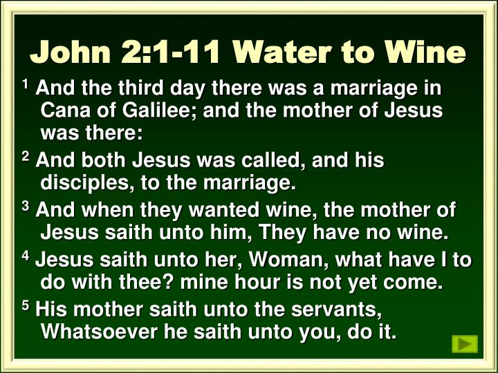 John 2:1-11 Water to Wine