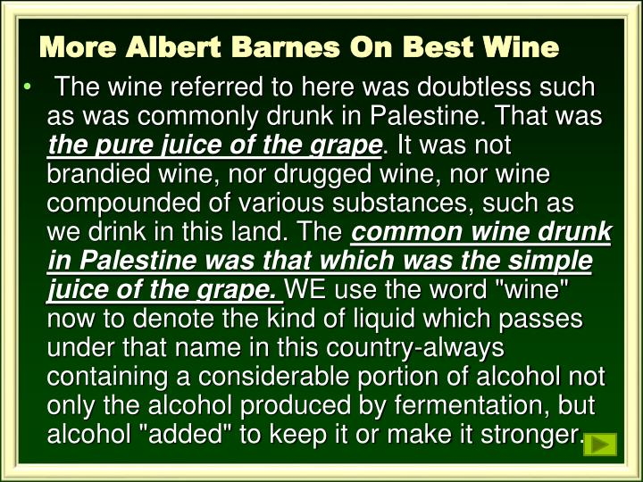 More Albert Barnes On Best Wine
