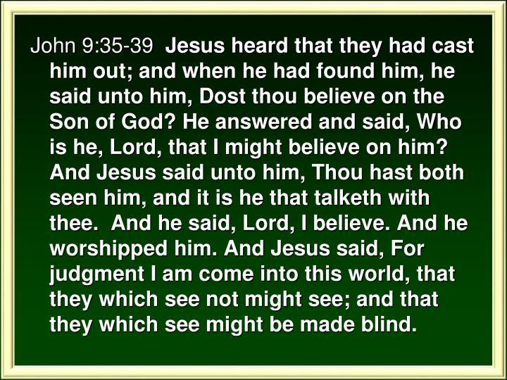 John 9:35-39