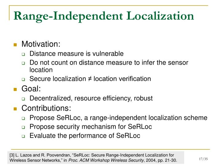 Range-Independent Localization