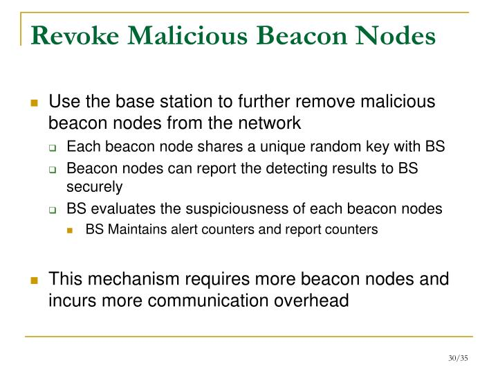 Revoke Malicious Beacon Nodes