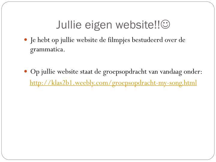 Jullie eigen website!!