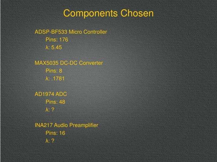 ADSP-BF533 Micro Controller