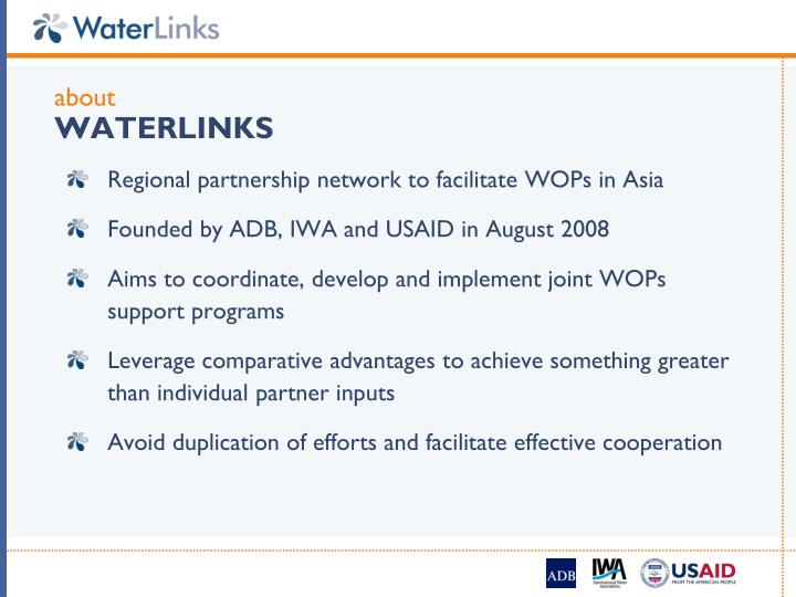 About waterlinks