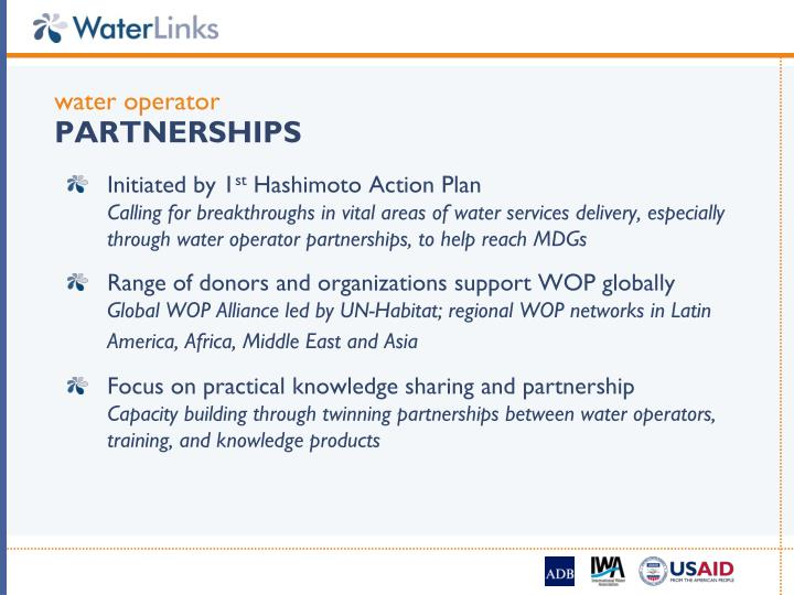 Water operator partnerships