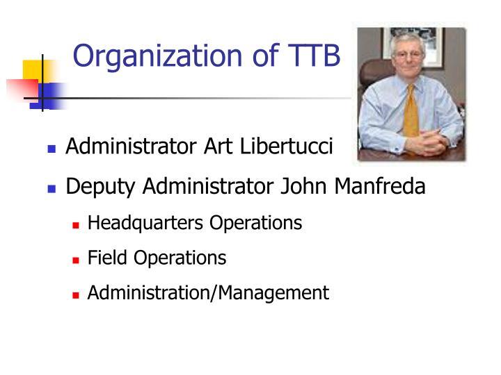 Organization of TTB
