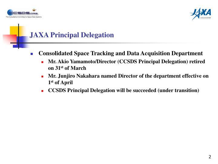 JAXA Principal Delegation