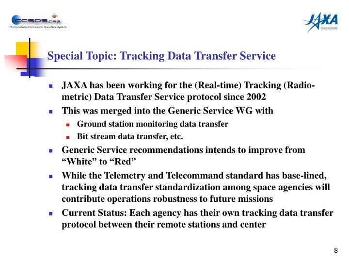 Special Topic: Tracking Data Transfer Service