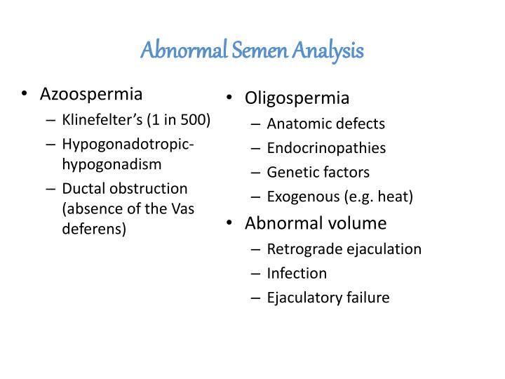 Abnormal Semen Analysis
