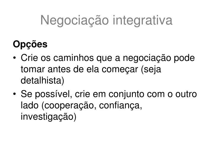 Negociação integrativa