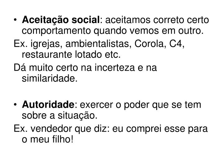Aceitação social