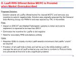 d laar rrs offered below mcpc is prorated when market oversubscribed1